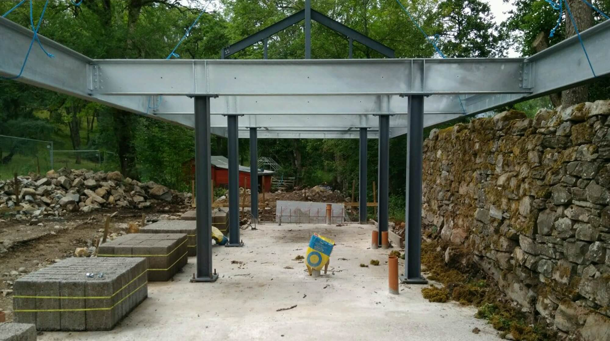 The Flax Mill steel frame is up!{categories}, {category_name}{/categories}