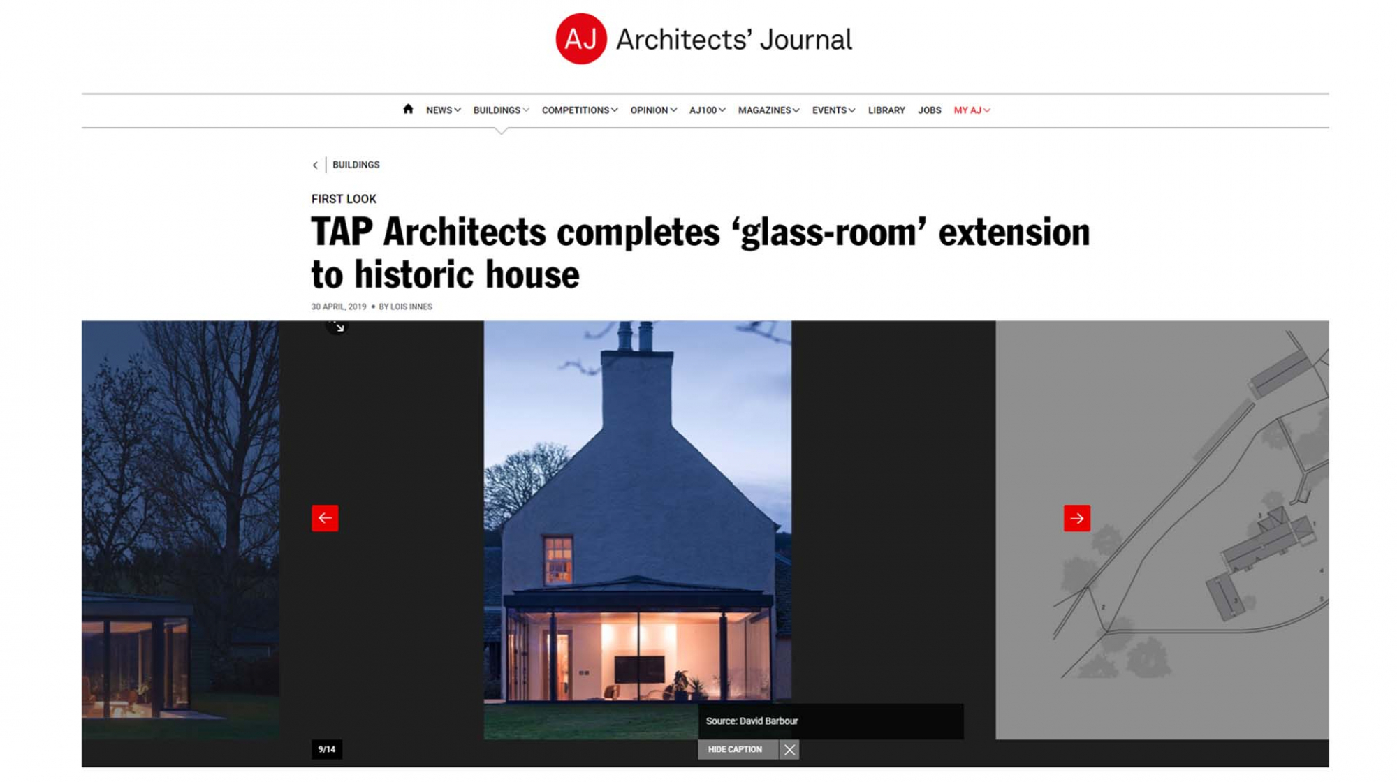 Blackhill House published in The Architects' Journal,