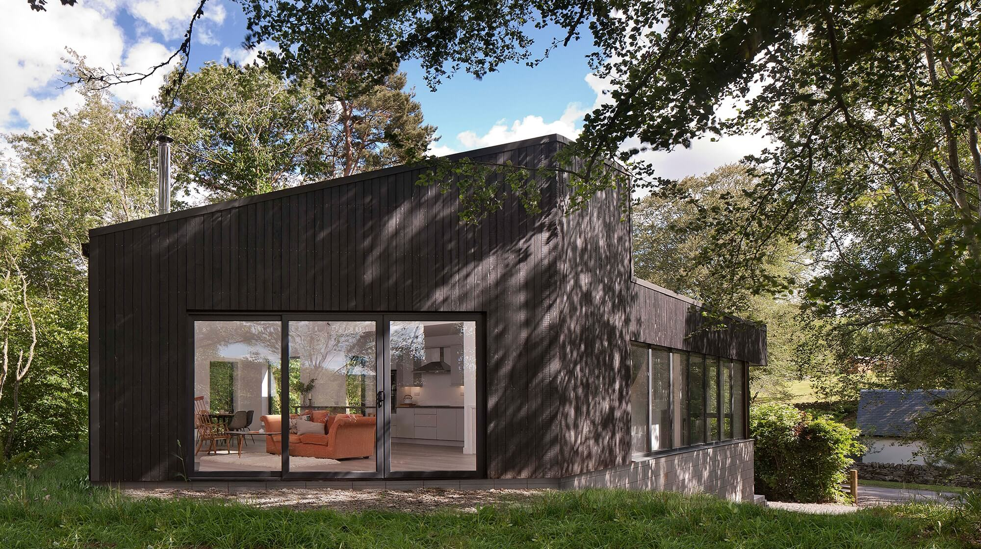 Woodland house completed,