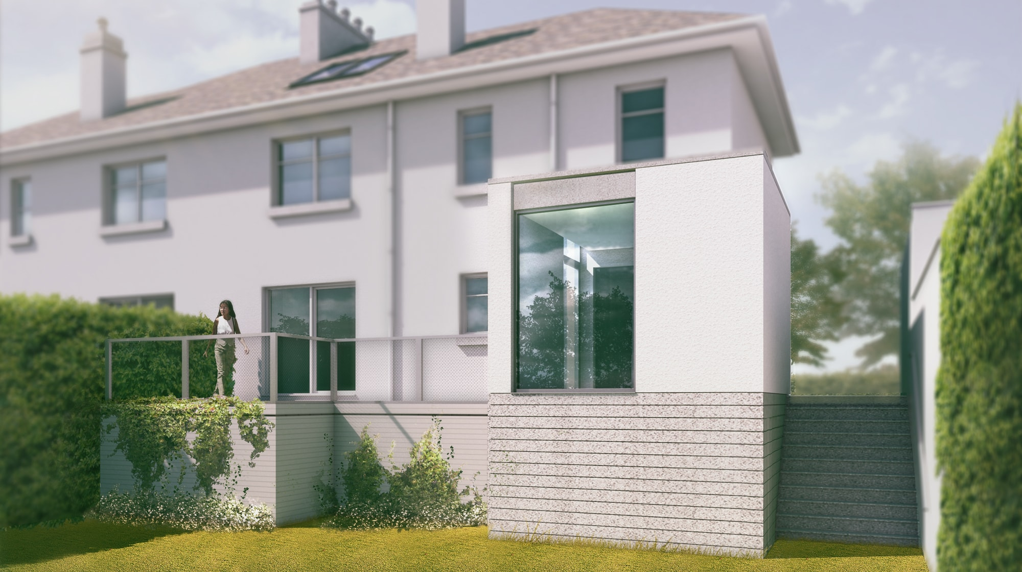 Planning Permission for cubic house extension,