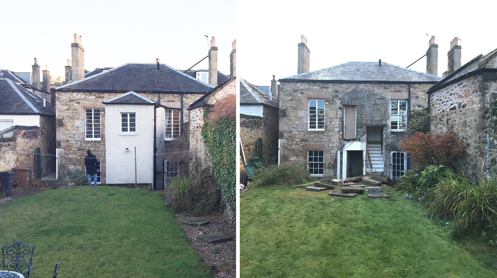 Listed Portobello house, progress on site,